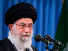 Iran's supreme leader, Ayatollah Ali Khamenei, said the US must lift all sanctions if it wants Iran to return to its commitments to the nuclear deal with Western powers (Office of the Iranian Supreme Leader/AP)