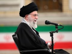 Iranian supreme leader Ayatollah Ali Khamenei. The US is withdrawing former president Donald Trump's restoration of UN sanctions on Iran (Office of the Iranian Supreme Leader/AP)