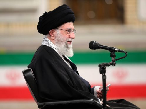 Iran's supreme leader Ayatollah Ali Khamenei. The US has moved to roll back Trump-era sanctions and re-enter talks with the Islamic republic over its nuclear programme (Office of the Iranian Supreme Leader/AP)