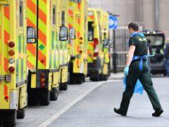 Ambulances at Whitechapel hospital in London on January 12 (Stefan Rousseau/PA)