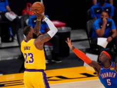 Los Angeles Lakers forward LeBron James recorded a triple-double (Mark J Terrill/AP)
