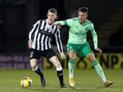 Jake Doyle-Hayes, left, is sidelined for St Mirren (Andrew Milligan/PA)