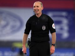 Referee Mike Dean will return to Premier League action this weekend (Mike Egerton/PA)