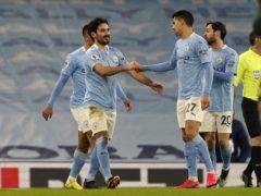 Manchester City's Ilkay Gundogan celebrates scoring (Tim Keeton/PA)