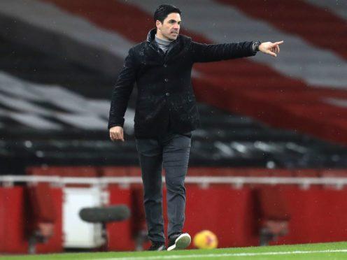 Arsenal manager Mikel Arteta hailed captain Pierre-Emerick Aubameyang's displat against Leeds (Adam Davy/PA)