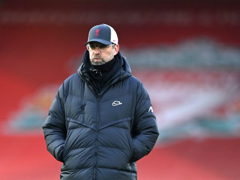 Liverpool manager Jurgen Klopp is only thinking about making his team better, not closing the gap to runaway leaders Manchester City (Laurence Griffiths/PA)