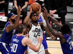 Donovan Mitchell was in fine form for the Utah Jazz against the Los Angeles Clippers (Keith Birmingham/AP)