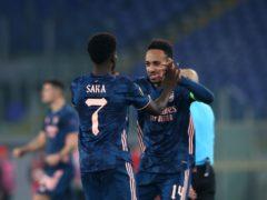 Bukayo Saka (left) scored Arsenal's equaliser as Pierre-Emerick Aubameyang fired blanks (Marco Iacobucci/PA)