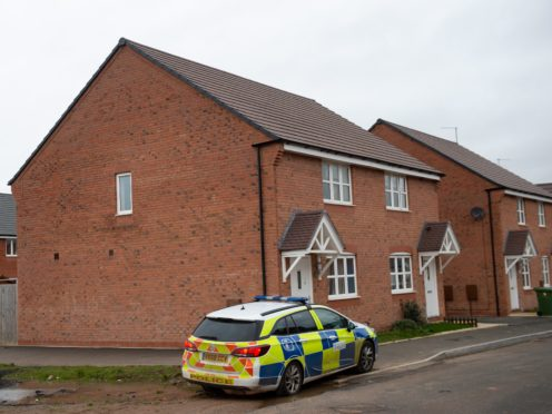 A police vehicle on Vashon Drive in Droitwich, Worcestershire (Jacob King/PA)
