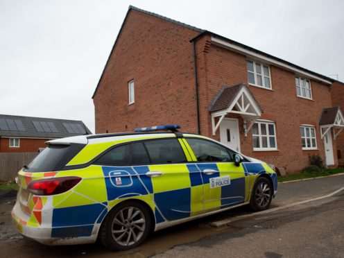 A police car in Vashon Drive in Droitwich, Worcestershire, where officers were called on Thursday afternoon (Jacob King/PA)