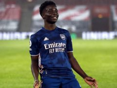 Bukayo Saka has hit five goals since Boxing Day. (Frank Augstein/PA)