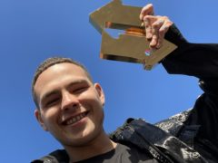 Slowthai with his Official Number 1 Album Award from the Official Charts Company (OfficialCharts.com/PA)