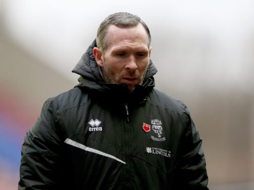 Lincoln manager Michael Appleton accused his players of being arrogant (Tim Markland/PA)
