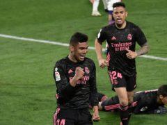 Casemiro scored Real Madrid's winning goal on Saturday night (Alvaro Barrientos/AP)