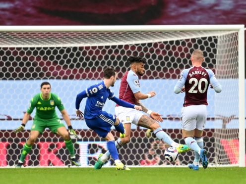 Leicester's James Maddison opened the scoring in their win at Aston Villa. (Michael Regan/PA)