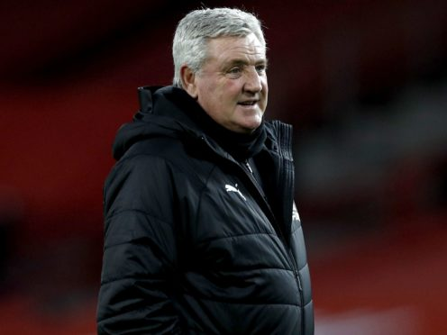 Newcastle manager Steve Bruce is confident of Premier League safety (Phil Noble/PA)