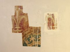 Part of the elaborate wall paintings dating back to the Victorian era which have been discovered at Shrewsbury Cathedral (Diocese of Shrewsbury/PA)