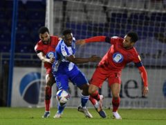 Brandon Hanlan, centre, was on target for Bristol Rovers (Simon Galloway/PA)