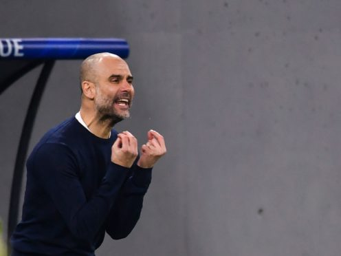 Pep Guardiola continues to demand more from his Manchester City side (PA Wire via DPA)