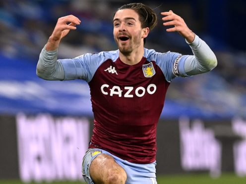 Aston Villa captain Jack Grealish remains injured. (Neil Hall/PA)
