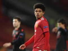 Shola Shoretire became Manchester United's youngest ever player in a European competition during the goalless draw with Real Sociedad (Martin Rickett/PA)