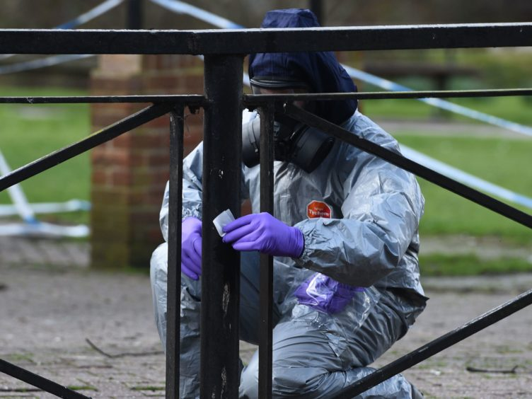 Extra chemical and biological training brought in during the deadly nerve agent episode in 2018 has helped officers handle the pandemic (Ben Birchall/PA)