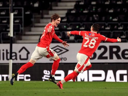 James Garner (left) opened the scoring with his first goal for Nottingham Forest (Mike Egerton/PA)