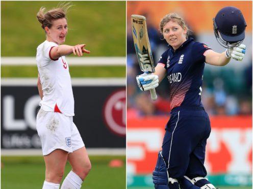 Ellen White, left, and Heather Knight (FA Handout/Martin Rickett/PA)