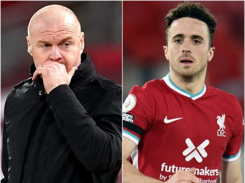 Sean Dyche and Diogo Jota (Jon Super/PeterPowell/PA)