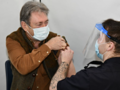 Alan Titchmarsh receives the vaccine (Ross Turner/PA)
