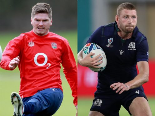 Owen Farrell, left, and Finn Russell will be looking to impress at Twickenham on Saturday (Dave Rogers/David Davies/PA)