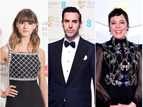 Daisy Edgar-Jones, Sacha Baron Cohen and Olivia Colman are nominated (PA)