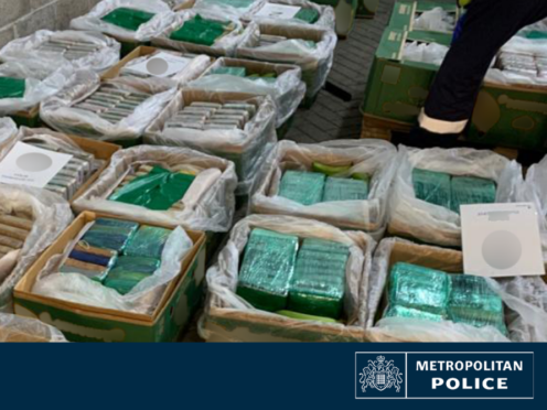 The drugs were found in a shipment of bananas (Handout/PA)