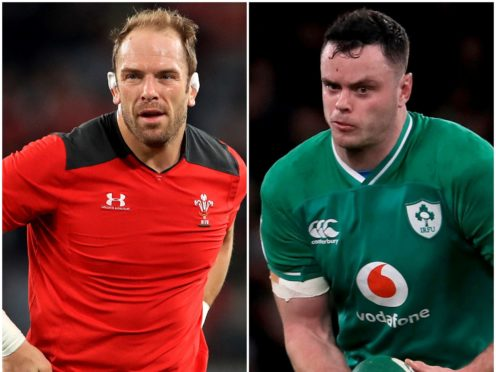 Alun Wyn Jones, left, and James Ryan go head to head in Cardiff this weekend (Adam Davy/Donall Farmer/PA)