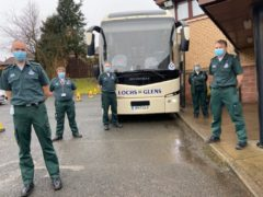 A team from the Scottish Ambulance Service have been vaccinating those in rural communities (Scottish Ambulance Service/PA)