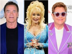 Arnold Schwarzenegger, Dolly Parton and Sir Elton John have all had the Covid-19 vaccine (PA)