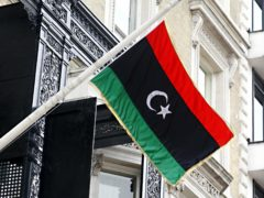 The flag of the Libyan Republic (Sean Dempsey/PA)