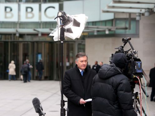 Simon McCoy working on an outside broadcast for the BBC (Steve Parsons/PA)
