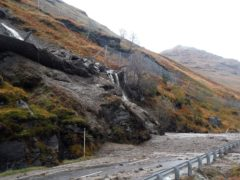 The Rest and be Thankful is prone to being blocked by landslides (BEAR Scotland/PA)