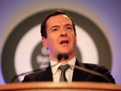 George Osborne was chancellor in the coalition government (Jonathan Brady/PA)