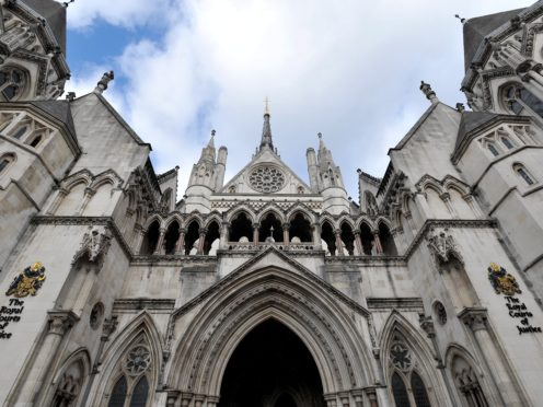The Royal Courts of Justice in central London (Nick Ansell/PA)