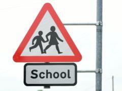 A school crossing sign (Ian West/PA)
