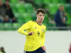 Jack Hendry in action for Scotland in 2018 (Tim Goode/PA)
