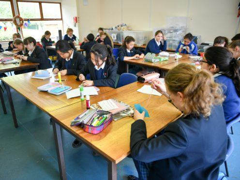 Students create craft items in a textiles class at Royal High School Bath, which is a day and boarding school for girls aged three to 18 (Ben Birchall/PA Archive/PA Images)