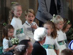 Princess Charlotte, Savannah Phillips Prince George, Isla Phillips and (far right) Mia Tindall (Yui Mok/PA)