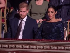 The Duke and Duchess of Sussex at the premiere of Cirque du Soleil�s Totem, in support of the Sentebale charity, at the Royal Albert Hall on London (Paul Grover/Daily Telegraph/PA)