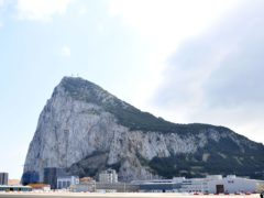 A general view of The Rock of Gibraltar.