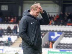 Robbie Neilson's Hearts were frustrated by Arbroath (Jeff Holmes/PA)