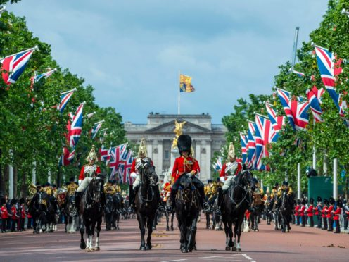 Brigade Major Lieutenant Colonel Guy Stone leading the Parade down the Mall (MoD)