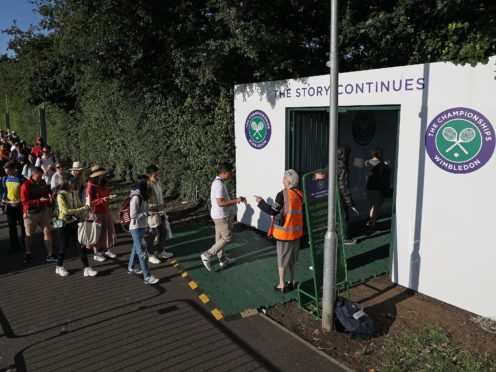 There will be no queuing at Wimbledon this year (Philip Toscano/PA).
